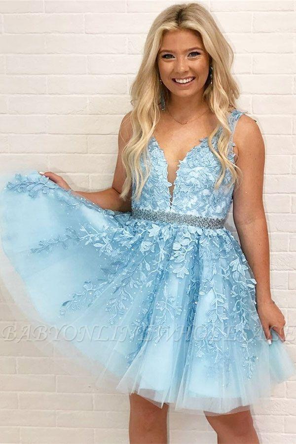 Schöne Abendkleider Blau Herz Förmig | Elegante Abikleider A-Linie