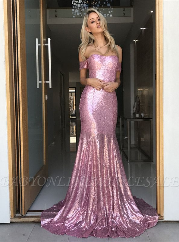 Sequins mermaid prom dress, evening party gowns