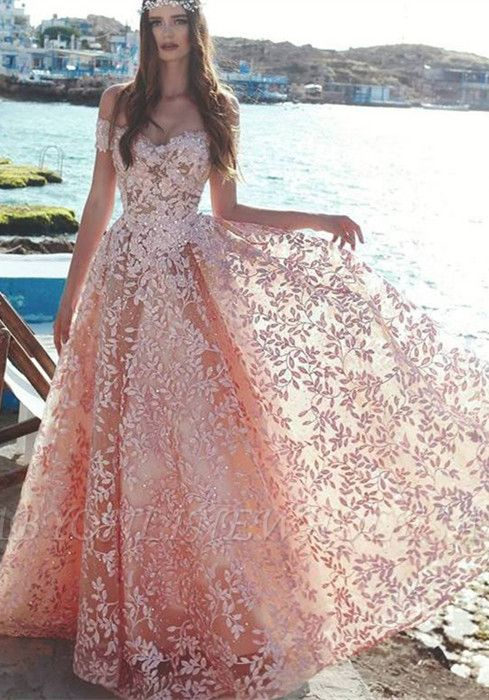 Robe de soirée élégante à l'épaule 2021 | Dentelle appliques robe de soirée de bal en vente