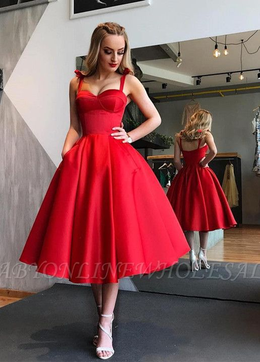 Gorgeous Sweetheart Red Short Prom Dress |  Tea-Length Homecoming Dress