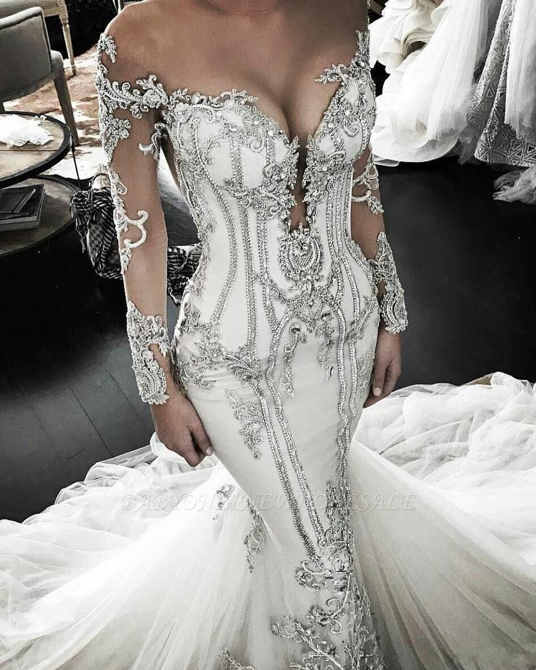 on sale 78b39 737a4 Vintage Hochzeitskleid Kaufen Brautkleid Langarm ...