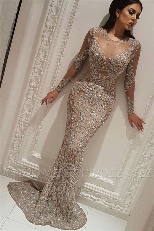 Elegant Long Sleeve Formal Dresses