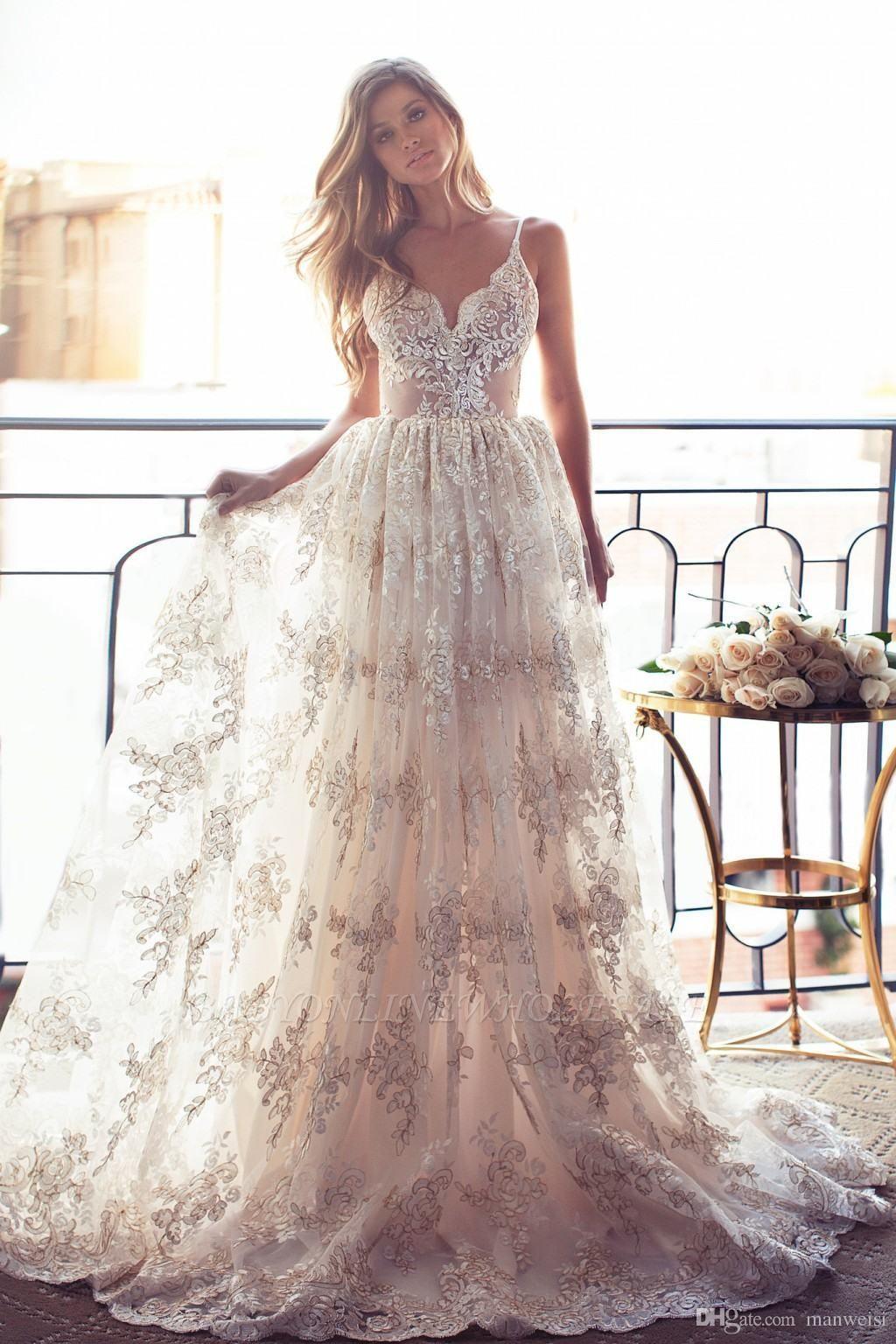 كامل الرباط عودة فتح فساتين الزفاف أثواب الزفاف مثير السباغيتي الأشرطة الصيف
