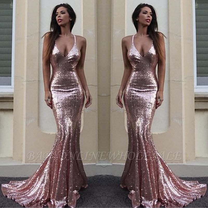 elegante abendkleider lang v ausschnitt  schlichtes