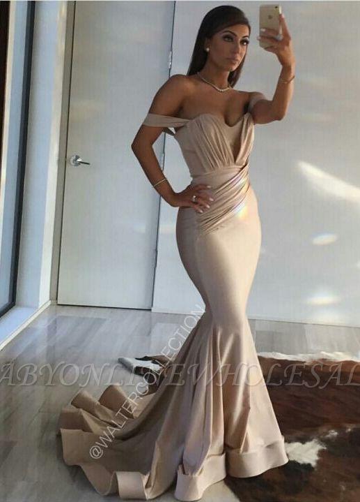Off Shoulder Sexy Formal Evening Dress Sheath Long Prom Dresses Custom Made CE0094