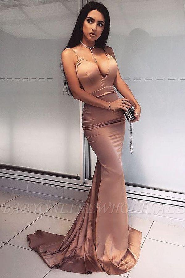 Elegantes V-Neck Meerjungfrau Abendkleid | langes Abendkleid