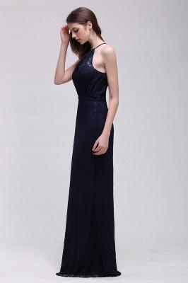 Pretty Floor longueur bleu marine Halter dentelle robe de bal_8