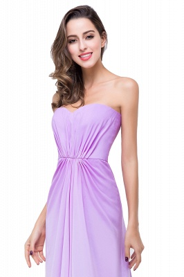 ADRIENNE | A-line Strapless Chiffon Bridesmaid Dress_5