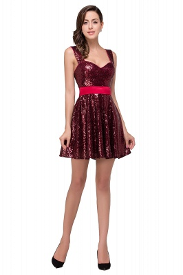 CHANA | A-line Sweetheart sequins  Prom Dress_1
