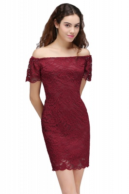 CAMRYN | Sheath Off-the-Shoulder Short Lace Burgundy Homecoming Dresses_2