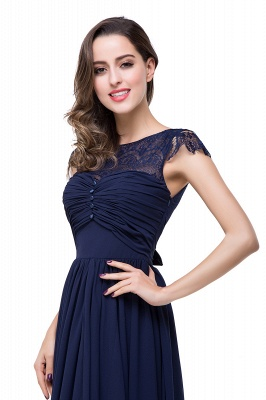ELLEN   A-line Short Sleeves Chiffon Bridesmaid Dresses with Ribbon Bow_17