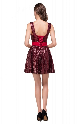 CHANA | A-line Sweetheart sequins  Prom Dress_3