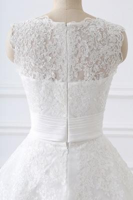 ALIYA   Sheath Scoop Lace Wedding Dresses with Detachable Skirt_7