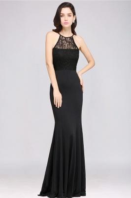 CHERISH   Mermaid Halter Floor-length Chiffon Black Prom Dress_4
