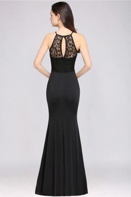 CHERISH   Mermaid Halter Floor-length Chiffon Black Prom Dress_3