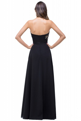 ADALYNN | A-line Sweetheart Black Evening Dress with Embroidery_3