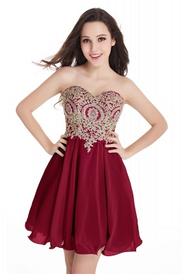 CYNTHIA   A-Line Strapless Short Chiffon Prom Dresses with Beadings_3