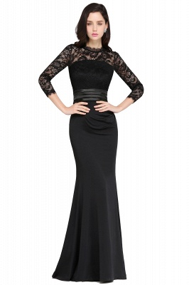 Zipper Back Evening Dress