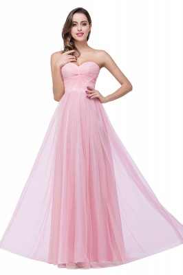 ADRIANNA | A-line Sweetheart Tulle Bridesmaid Dress with Draped_8