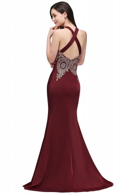 EILEEN | Mermaid Scalloped Floor-length Appliques Burgundy Prom Dresses with Beadings_3
