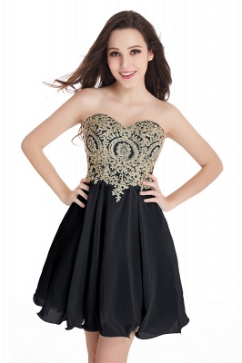 CYNTHIA   A-Line Strapless Short Chiffon Prom Dresses with Beadings_9