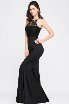 CHERISH   Mermaid Halter Floor-length Chiffon Black Prom Dress_6