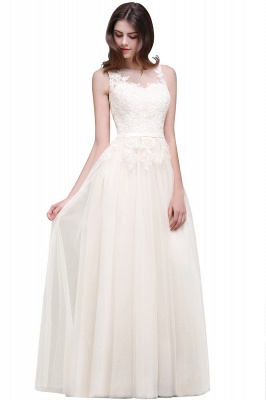 ATHENA | A-line Floor-Length Tulle Prom Dress With Lace_1