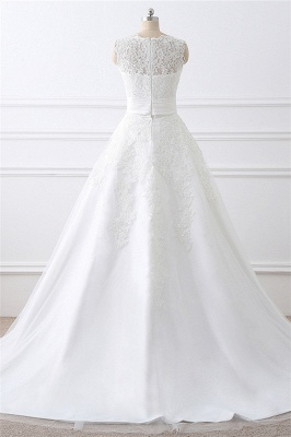 ALIYA   Sheath Scoop Lace Wedding Dresses with Detachable Skirt_3