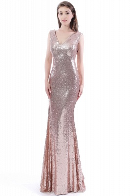 DAKOTA | Mermaid Floor Length V-Neck Long Sequins Prom Dresses_5