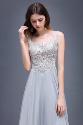 AUBRIELLA | A-line Floor Length Chiffon Prom Dress With Appliques_5
