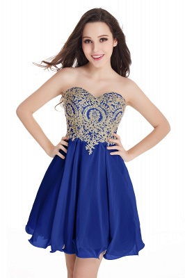 CYNTHIA   A-Line Strapless Short Chiffon Prom Dresses with Beadings_7