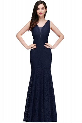 CLARISSA - Meerjungfrau bodenlangen Lace Red Abendkleid_1