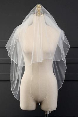 رخيصة تول قص حافة قفازات الزفاف