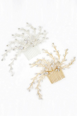glamourous Alloy&Rhinestone Daily Wear Combs-Barrettes Headpiece with Crystal_7