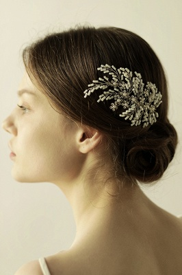 glamour Alloy Imitation Perles Occasion spéciale Combs-Barrettes Headpiece avec strass_5