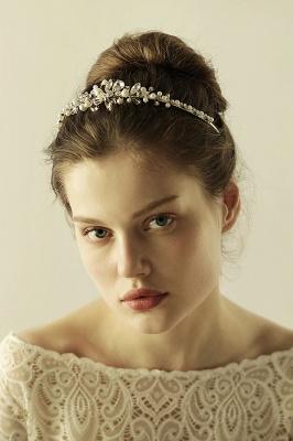 Elegante Legierung Nachahmungen von Perlen Besondere Anlässe & Hochzeit Haarnadeln Kopfschmuck mit Kristall Strass_2