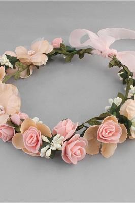 زهرة بلاستيكية مناسبة خاصة زهرة-البنات أغطية الرأس مع اللآلئ المقلدة_2