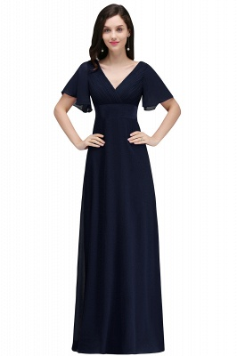COLETTE | A-Linie bodenlanges Chiffon Burgund Prom Kleid mit weichen Falten_4