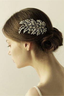 glamour Alloy Imitation Perles Occasion spéciale Combs-Barrettes Headpiece avec strass_9