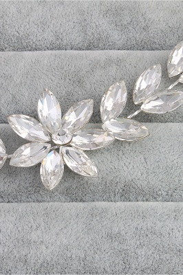 Flower Alloy&Rhinestone Special Occasion Hairpins Headpiece with Crystal_7