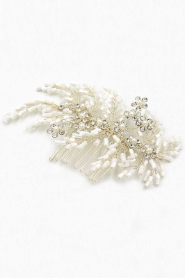 glamour Alloy Imitation Perles Occasion spéciale Combs-Barrettes Headpiece avec strass_11