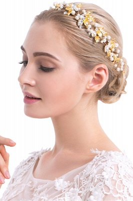 Elegant Alloy &Imitation Pearls Special Occasion Hairpins Headpiece with Rhinestone