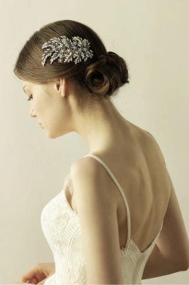 glamour Alloy Imitation Perles Occasion spéciale Combs-Barrettes Headpiece avec strass_4