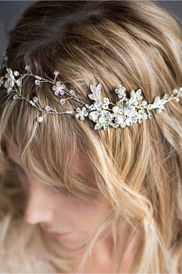 Beautiful Alloy &Imitation Pearls Special Occasion Hairpins Headpiece with Rhinestone_4