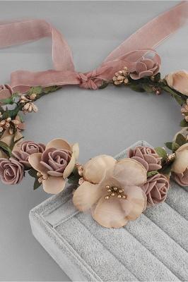زهرة بلاستيكية مناسبة خاصة زهرة-البنات أغطية الرأس مع اللآلئ المقلدة_9