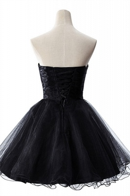 AISHA | A-line Strapless Tulle Prom Dress With  Embroidery_3