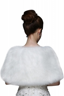 Sexy Tulle blanc demi-manches occasionnels mariage Wraps_3