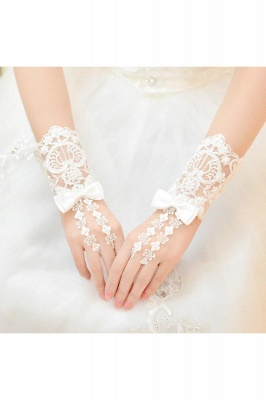 Sexy Lace Fingerless Elbow Length Party Gloves with Appliques