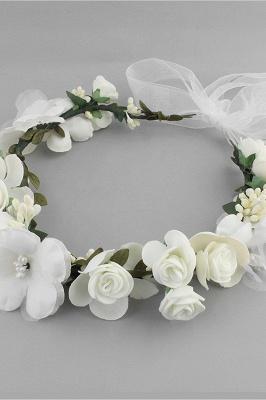 زهرة بلاستيكية مناسبة خاصة زهرة-البنات أغطية الرأس مع اللآلئ المقلدة_5