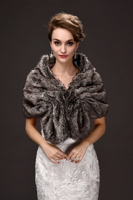 Mode Chaud Ruffle Tulle Argent Demi-Manches Casual Wraps